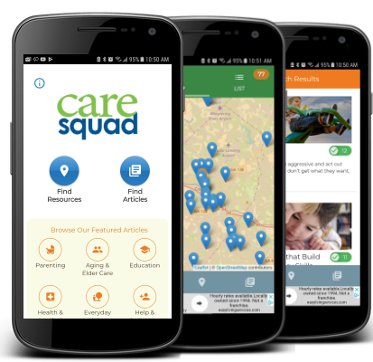 Caresquad App on iphone